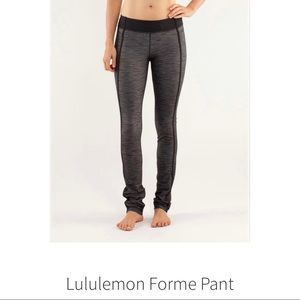 LULULEMON 'Forme Pant' Reversible Slub Leggings